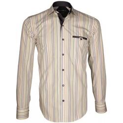 Vêtements Homme Chemises manches longues Emporio Balzani chemise bayadere astro vert Vert