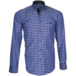 Vêtements Homme Chemises manches longues Emporio Balzani chemise oxford astoria bleu Bleu