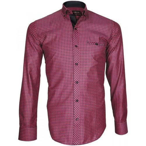 Vêtements Homme Chemises manches longues Emporio Balzani chemise oxford astoria rose Rose