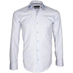 Vêtements Homme Chemises manches longues Emporio Balzani chemise repassage facile giancarlo bleu Bleu