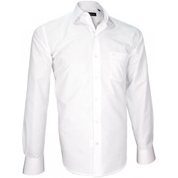 Vêtements Homme Chemises manches longues Emporio Balzani chemise seersucker bianco blanc Blanc