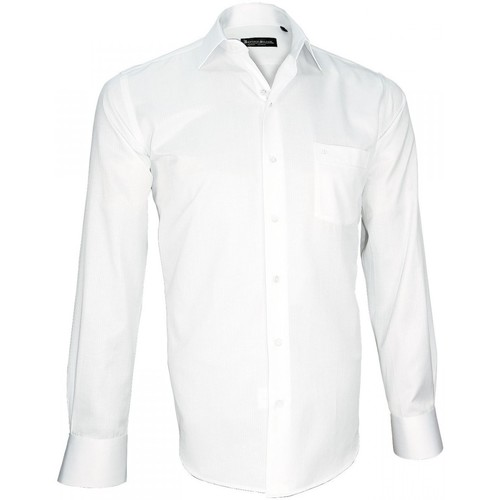 Vêtements Homme Chemises manches longues Emporio Balzani chemise tissu armure bianco blanc Blanc