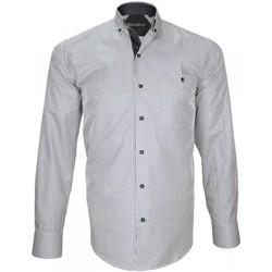 Vêtements Homme Chemises manches longues Emporio Balzani chemise sport montalcino bleu Bleu