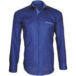 Vêtements Homme Chemises manches longues Emporio Balzani chemise mode tascoli bleu Bleu