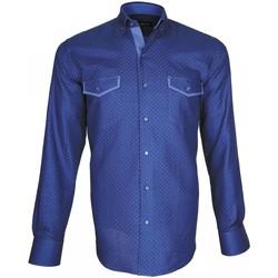 Vêtements Homme Chemises manches longues Emporio Balzani chemise mode tasca new bleu Bleu