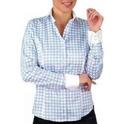 Vêtements Femme Chemises / Chemisiers Andrew Mc Allister chemise a pois dots bleu Bleu