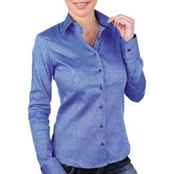 Vêtements Femme Chemises / Chemisiers Andrew Mc Allister chemise imprimee astoria bleu Bleu