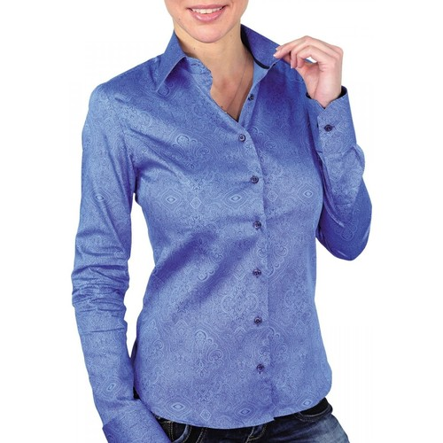 Vêtements Femme Chemises / Chemisiers Andrew Mac Allister chemise imprimee astoria bleu Bleu