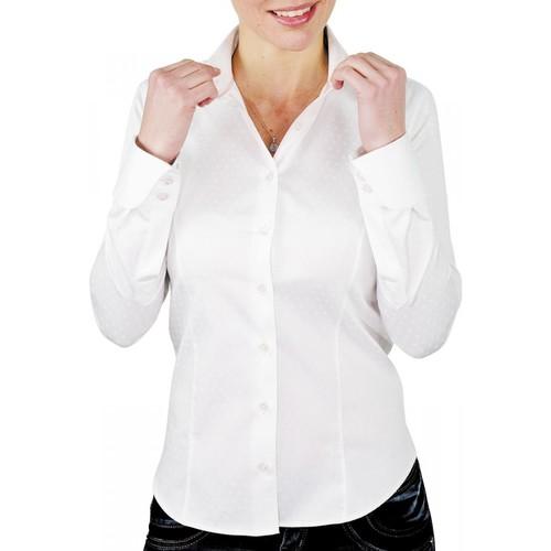 Vêtements Femme Chemises / Chemisiers Andrew Mac Allister chemise habillee fair blanc Blanc