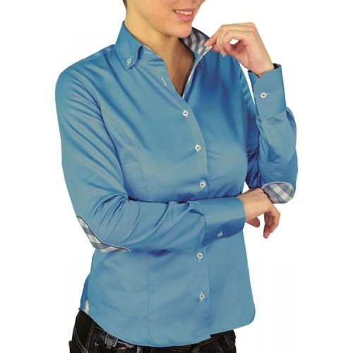 Vêtements Femme Chemises / Chemisiers Andrew Mc Allister chemise a coudiere brittany bleu Bleu