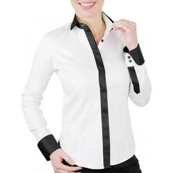 Vêtements Femme Chemises / Chemisiers Andrew Mc Allister chemise habillee gwendoline blanc Blanc