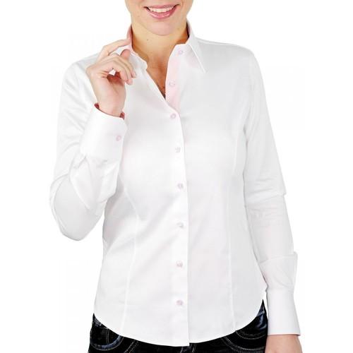 Vêtements Femme Chemises / Chemisiers Andrew Mac Allister chemise brodee love blanc Blanc