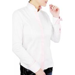 Vêtements Femme Chemises / Chemisiers Andrew Mc Allister chemise col mao lawrence noir Noir
