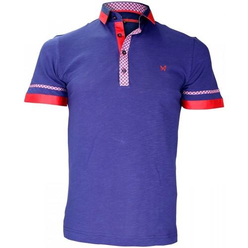 Vêtements Homme Polos manches courtes Andrew Mc Allister polo bi-matiere folkerstone bleu Bleu