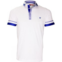Vêtements Homme Polos manches courtes Andrew Mac Allister polo bi-matiere folkerstone blanc Blanc