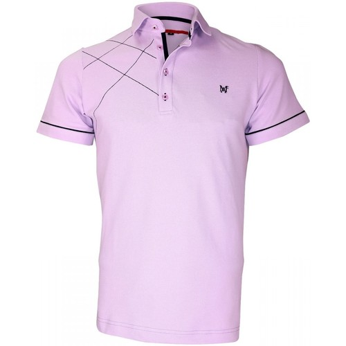 Vêtements Homme Polos manches courtes Andrew Mac Allister polo brode plymouth parme Parme