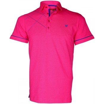 Vêtements Homme Polos manches courtes Andrew Mc Allister polo brode plymouth rose Rose