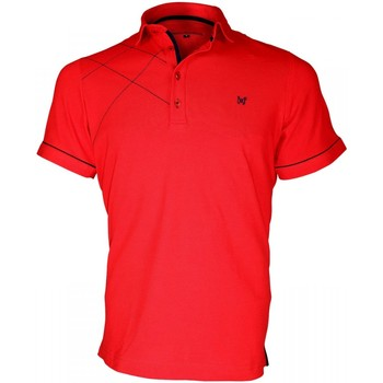 Vêtements Homme Polos manches courtes Andrew Mc Allister polo brode plymouth rouge Rouge