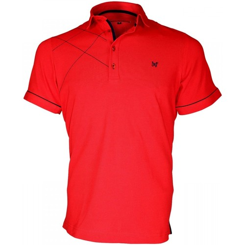 Vêtements Homme Polos manches courtes Andrew Mac Allister polo brode plymouth rouge Rouge