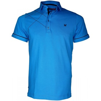 Vêtements Homme Polos manches courtes Andrew Mc Allister polo brode plymouth turquoise Turquoise