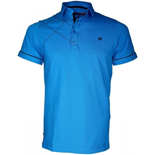 Vêtements Homme Polos manches courtes Andrew Mac Allister polo brode plymouth turquoise Turquoise