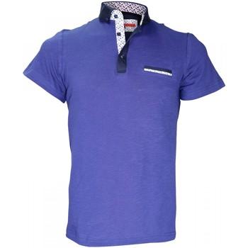 Vêtements Homme Polos manches courtes Andrew Mc Allister polo col boutonnee studland bleu Bleu