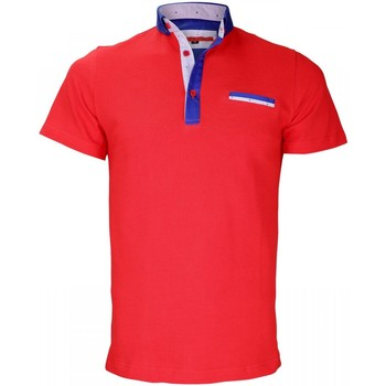 Vêtements Homme Polos manches courtes Andrew Mc Allister polo col boutonnee studland rouge Rouge