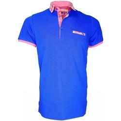 Vêtements Homme Polos manches courtes Andrew Mc Allister polo fantaisie weymouth bleu Bleu