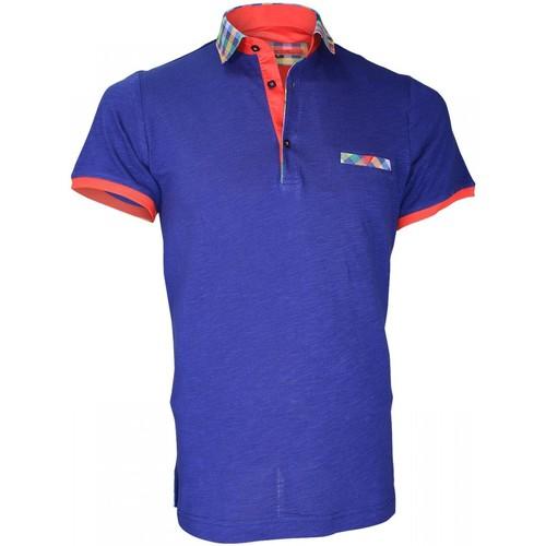 Vêtements Homme Polos manches courtes Andrew Mac Allister polo fantaisie weymouth bleu Bleu