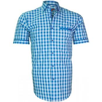 Vêtements Homme Chemises manches longues Andrew Mc Allister chemisette vichy dixon bleu Bleu