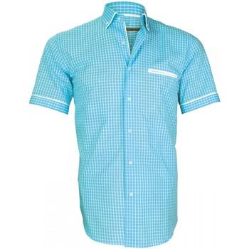 Vêtements Homme Chemises manches longues Andrew Mc Allister chemisette vichy dixon turquoise Turquoise