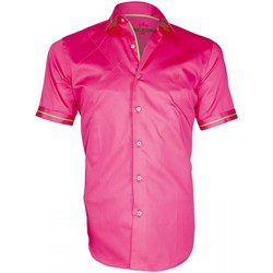 Vêtements Homme Chemises manches longues Andrew Mc Allister chemisette brodee sohoo rose Rose