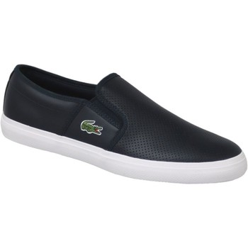 Chaussures Homme Slips on Lacoste Gazon BL 1 Bleu marine