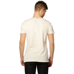 Vêtements Femme T-shirts manches courtes Jack & Jones T-shirt HOMME - LIAM SS TEE_CLOUD DANCER/SLIM FIT Beige
