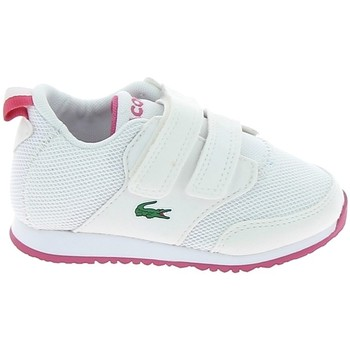 Chaussures Enfant Baskets mode Lacoste Light 117 1 BB Blanc Rose Blanc
