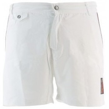 Vêtements Homme Shorts / Bermudas Mister Marcel Pantalon BELILE PIPING BLANC