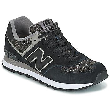 Chaussures Femme Baskets basses New Balance WL574 Noir