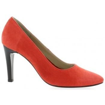 Chaussures Femme Escarpins Pao Escarpins cuir velours  cail Corail