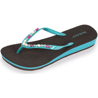 Chaussures Femme Tongs Isotoner Tongs femme perles turquoise