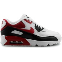Chaussures Garçon Baskets basses Nike Air Max 90 Mesh Junior Blanc Blanc/Rouge