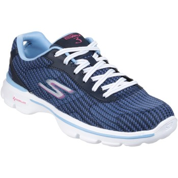 Chaussures Femme Baskets basses Skechers Go Walk 3 Fitknit Blue