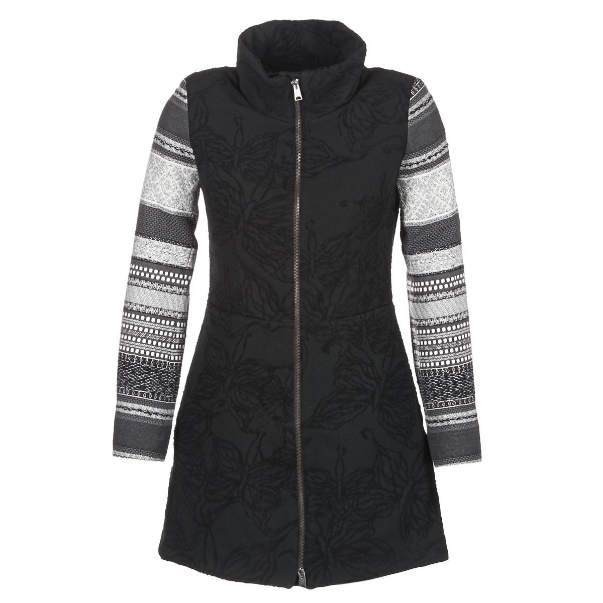 Desigual Grame Noir - Livraison Gratuite Vêtements Manteaux Femme 162,47 €