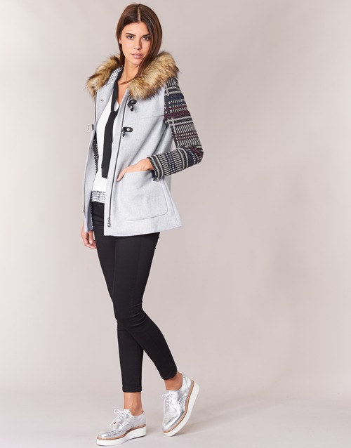 Desigual Gerdi Gris - Livraison Gratuite Avec Vêtements Manteaux Femme 14000