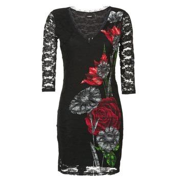Vêtements Femme Robes courtes Desigual GRAFE Noir