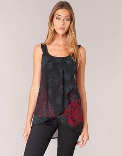Vêtements Femme Débardeurs / T-shirts sans manche Desigual MEGEC Noir / Rouge