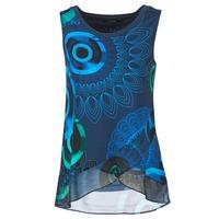 Vêtements Femme Débardeurs / T-shirts sans manche Desigual TAMAC Bleu