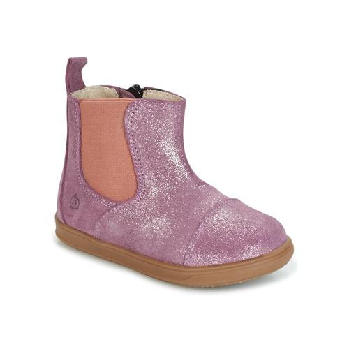 Chaussures Fille Boots Citrouille et Compagnie HUETTE Rose