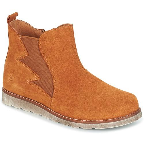 Chaussures Garçon Boots Citrouille et Compagnie HISSA Camel