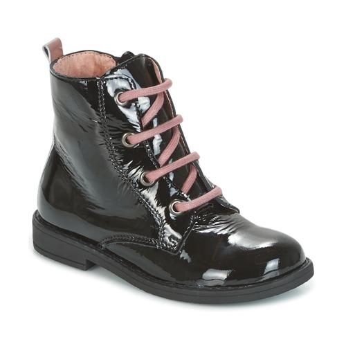 Chaussures Enfant Boots Citrouille et Compagnie HEMANU Noir / Rose