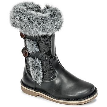 Chaussures Fille Bottes ville Citrouille et Compagnie HOSY Noir